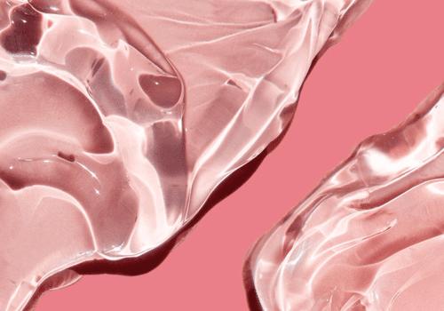 pink gel on dark pink background