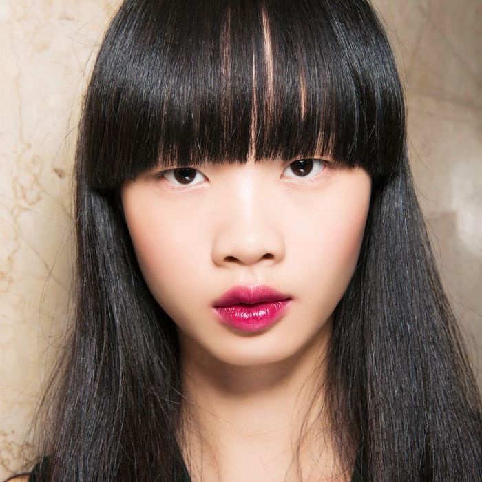 how to blow dry hair: fringe