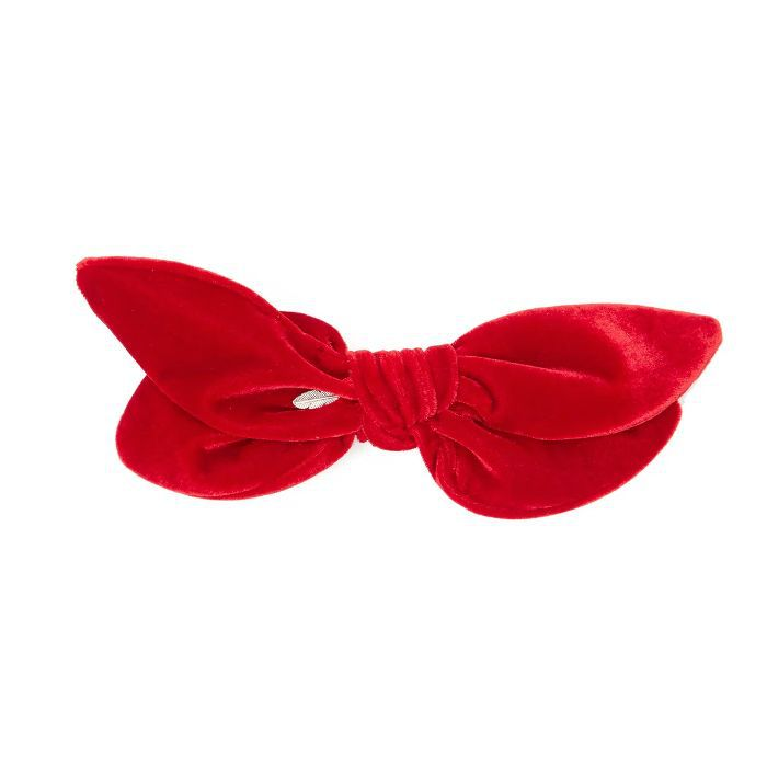 House of Lafayette Knotted Double-Bow Velvet Hair Slide