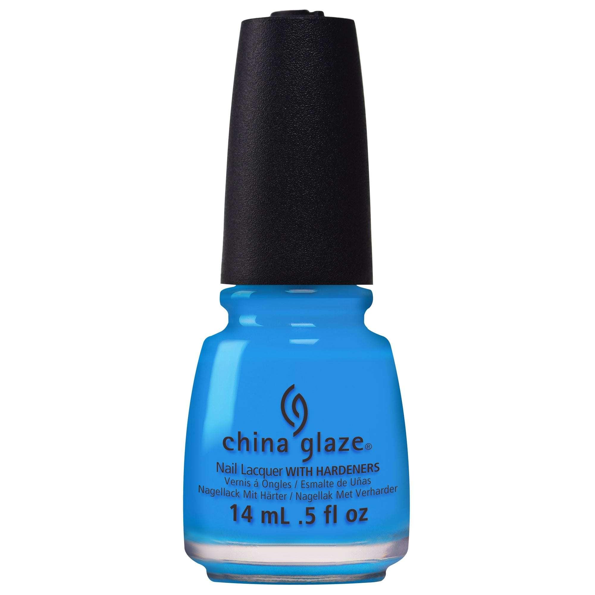 neon blue nail polish