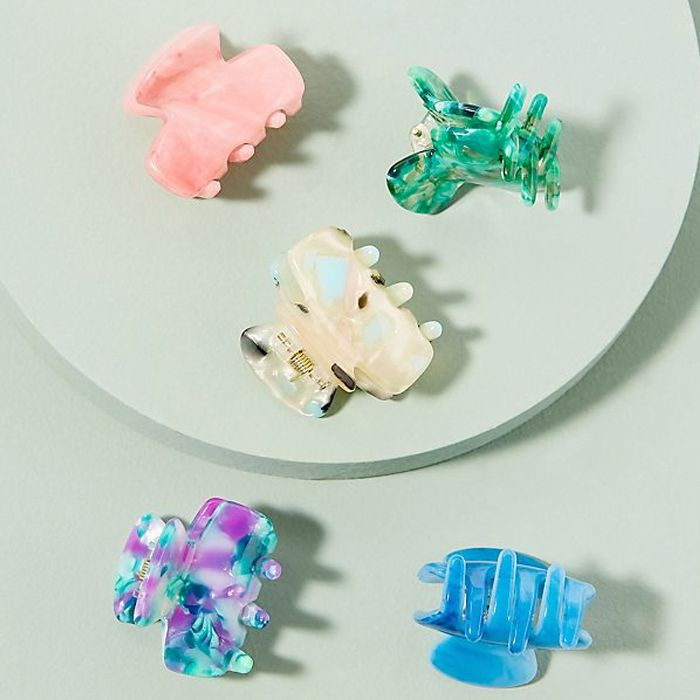 Anthropologie Itty Bitty Speckled Mini Hair Clip Set