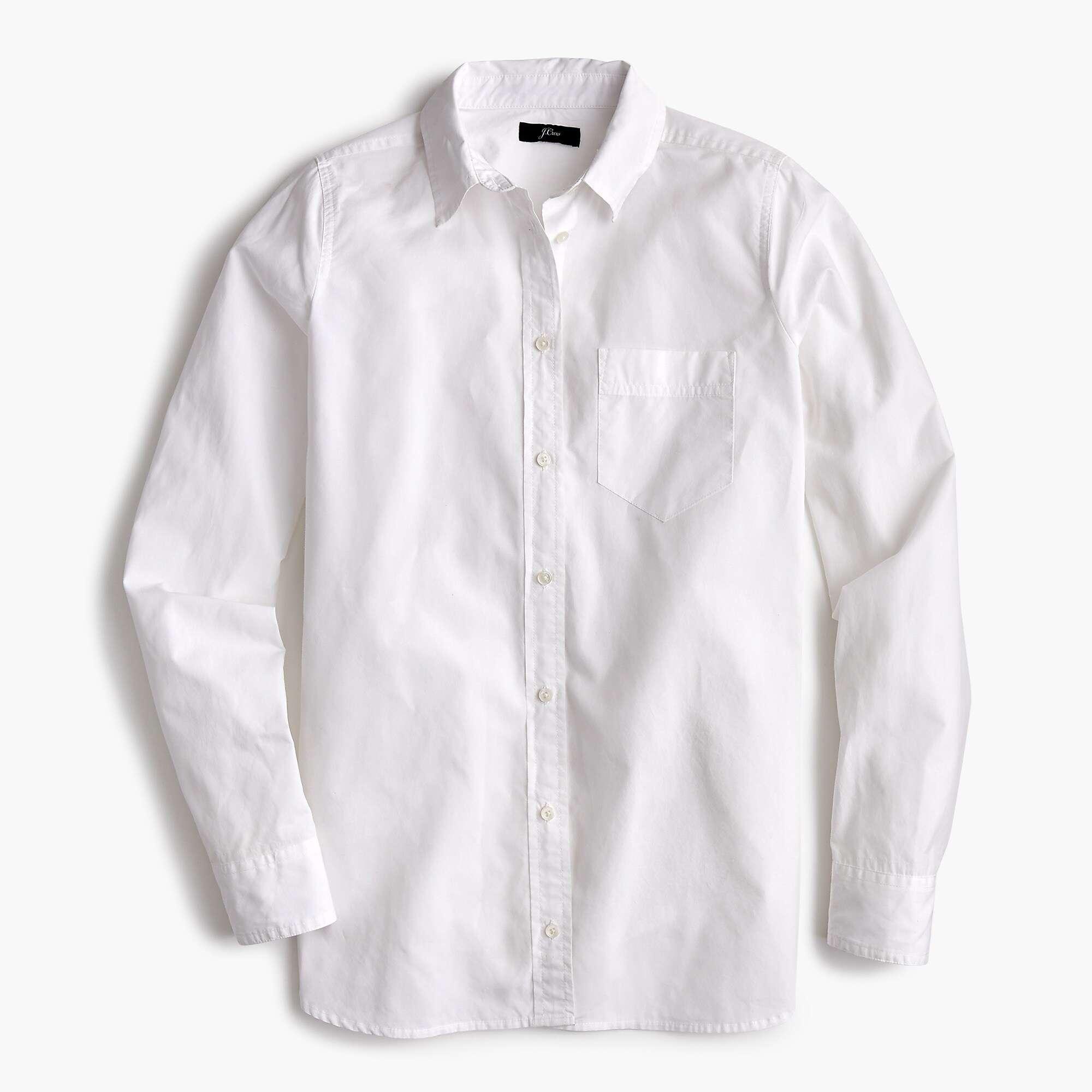 Classic-fit boy shirt in cotton poplin