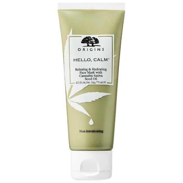 Hello, Calm Relaxing & Hydrating Face Mask With Cannabis Sativa Seed Oil