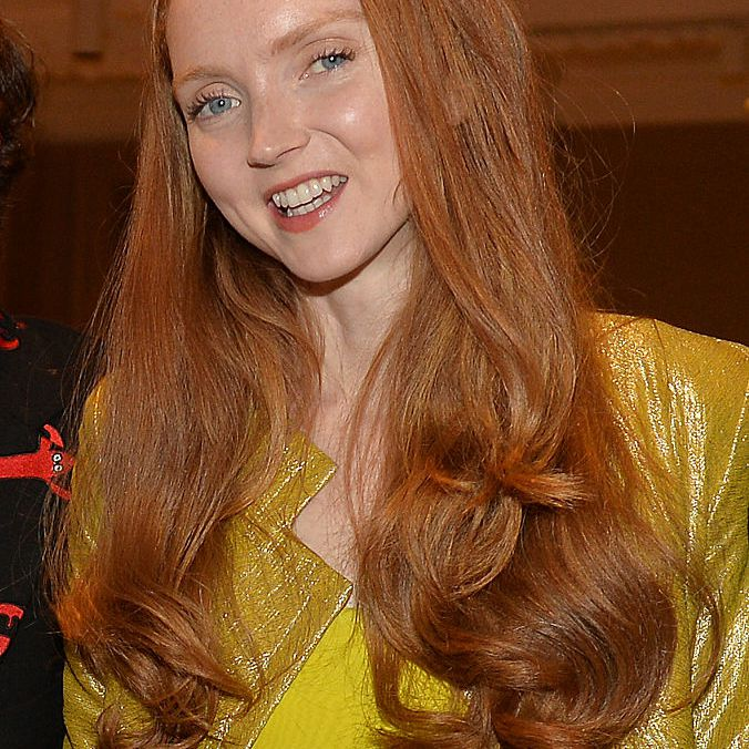 Lily Cole long red hair