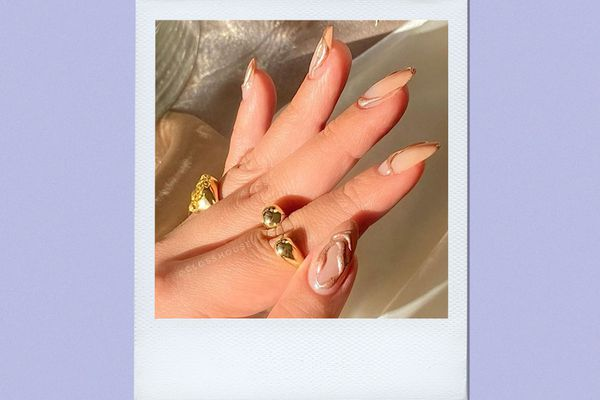 gold plated manicure
