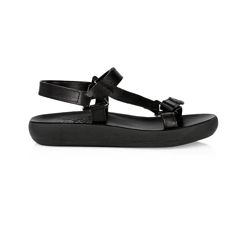 Poria Leather Flatform Sport Sandals