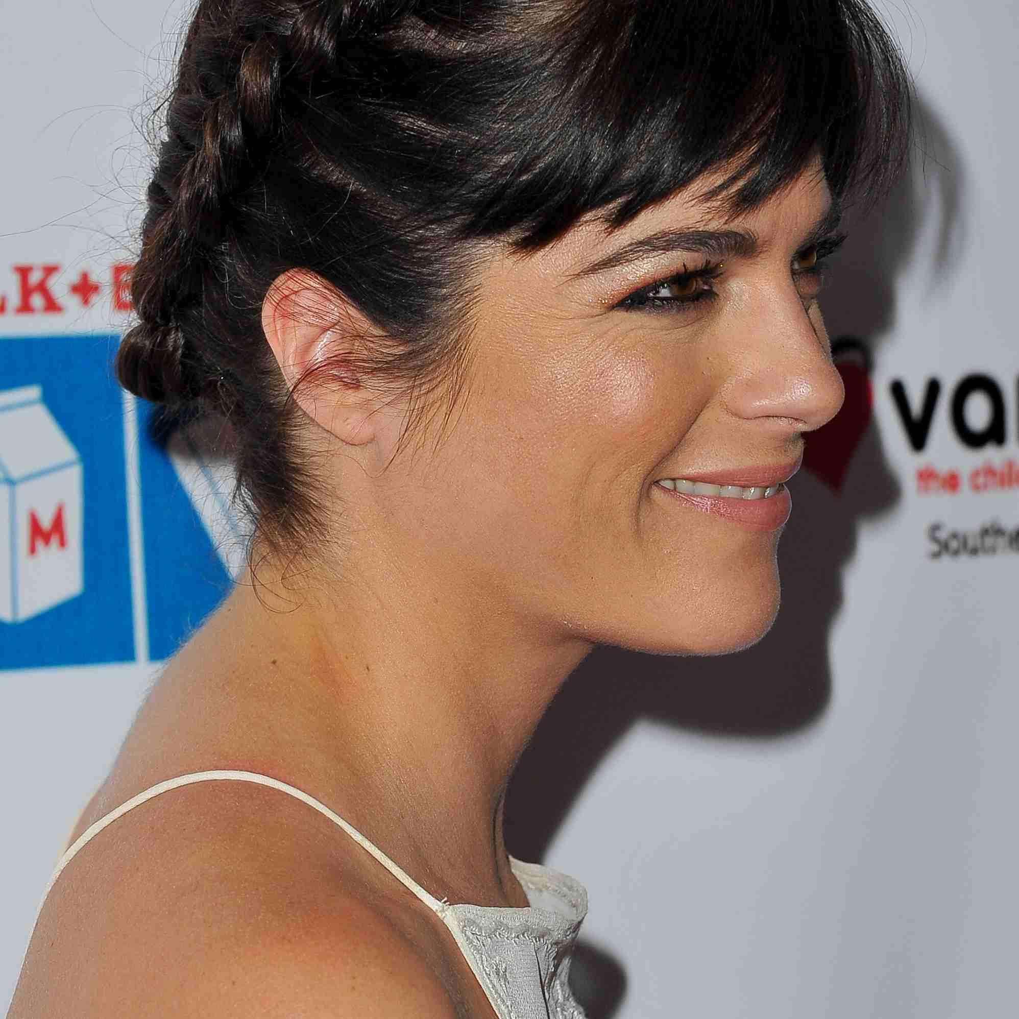 Selma Blair with double dutch braids
