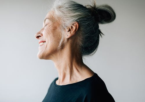 happy senior person