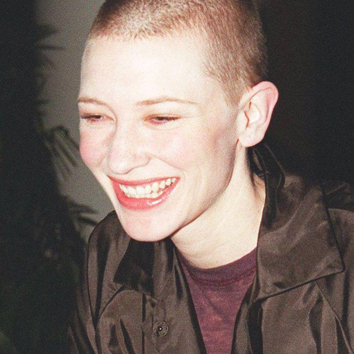 buzz-cut-women: Cate Blanchett with a buzz cut