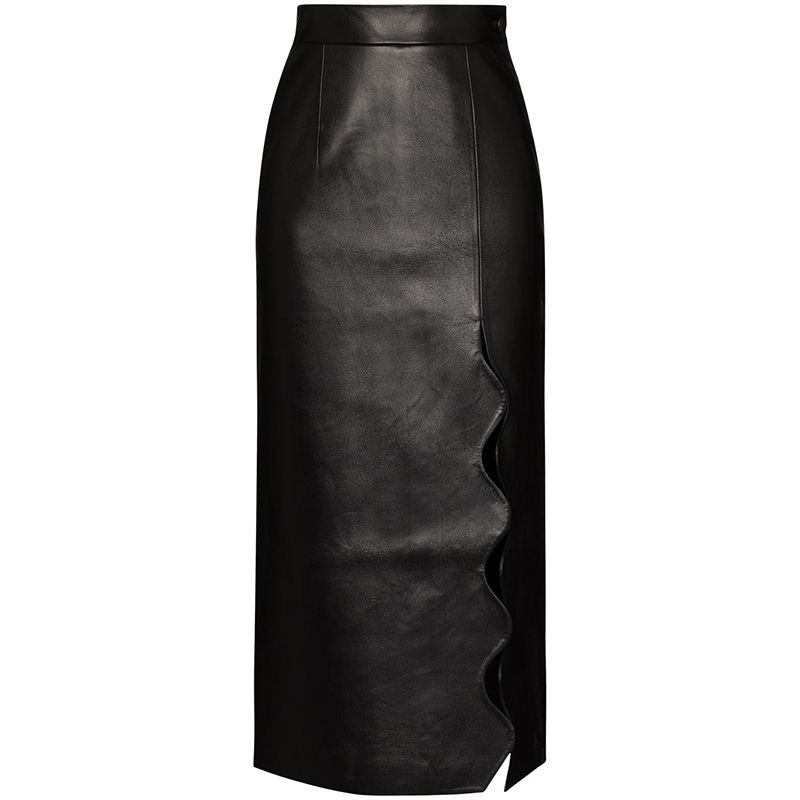 Scalloped Edge Pencil Skirt