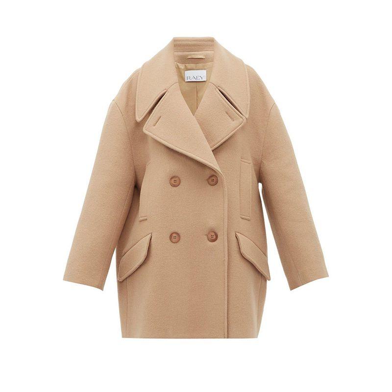 Oversized Wool Pea Coat