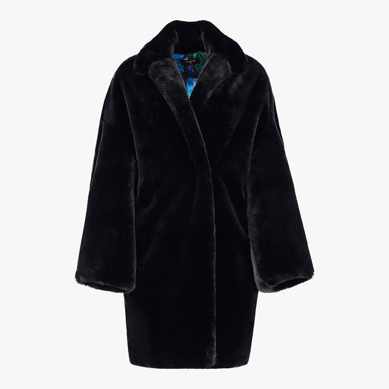 Kimono Faux Fur Coat