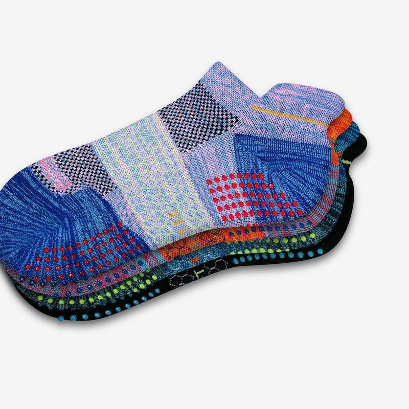 Bombas Women's Performance Gripper Ankle Sock 3-Pack
