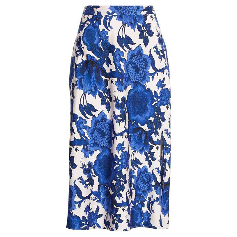 Beverly Floral Print Midi Skirt