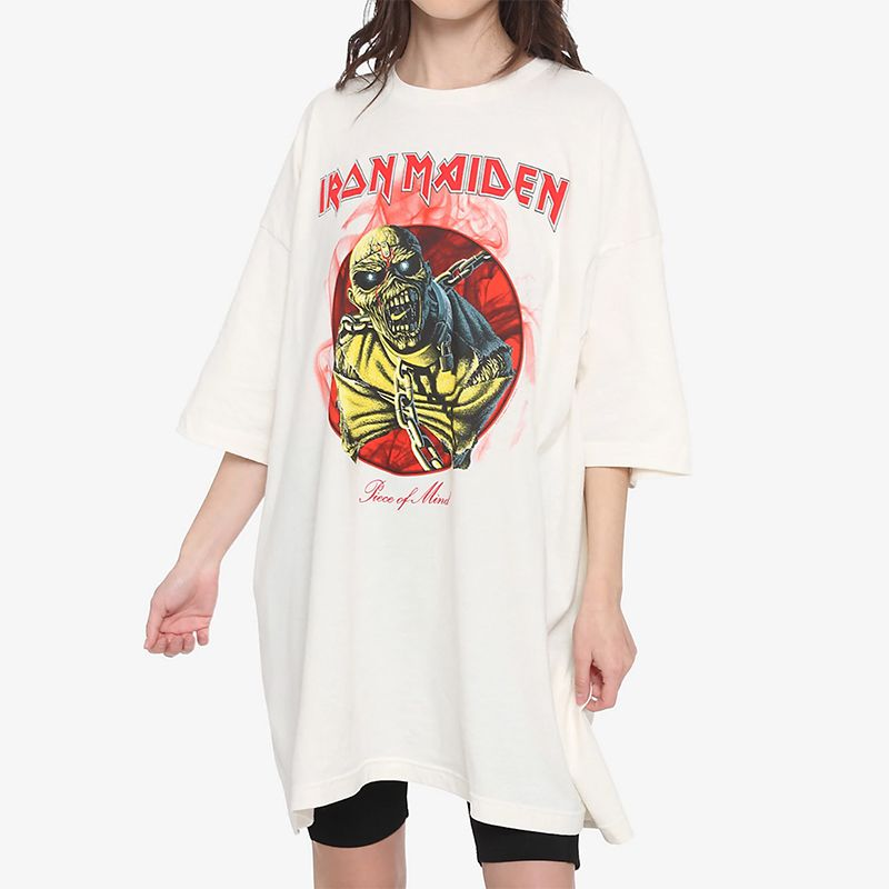 Iron Maiden Piece Of Mind Oversized Girls T-Shirt