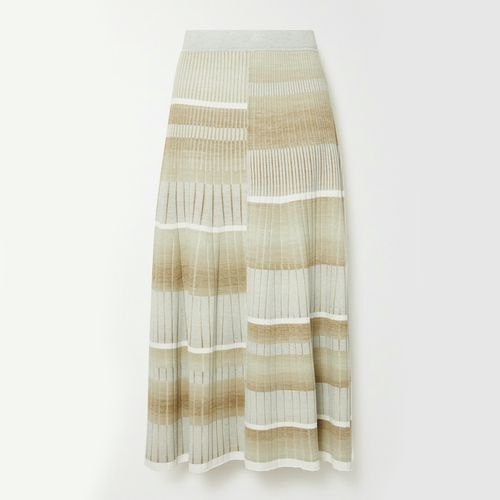 Jonathan Simkhai Louise Striped Ribbed-Knit Midi Skirt