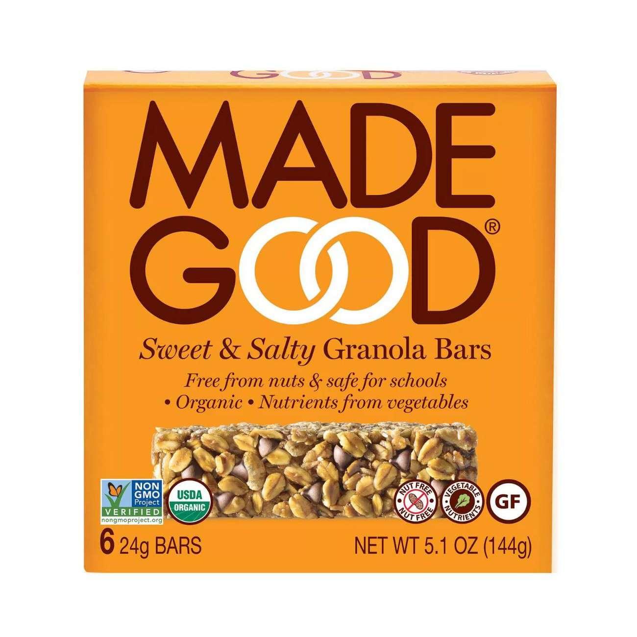 MadeGood Sweet & Salty Granola Bar