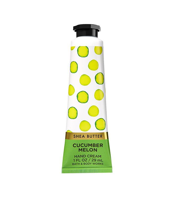 bath and body works cucumber melon hand cream- best summer hand lotions