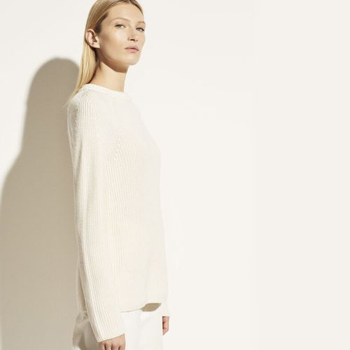 Ribbed Cotton Cashmere Crew ($295)