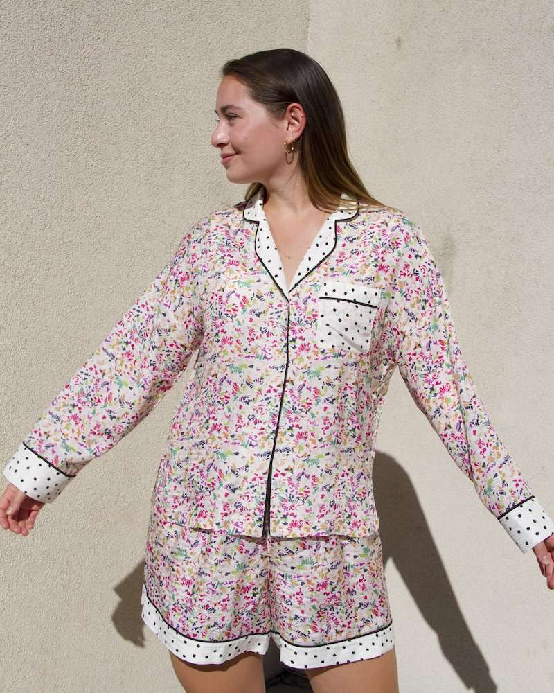 Tanya Taylor Remixed and Restitched Pajama Set