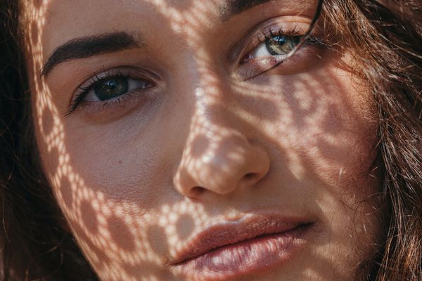 close up of beautiful woman in natural light