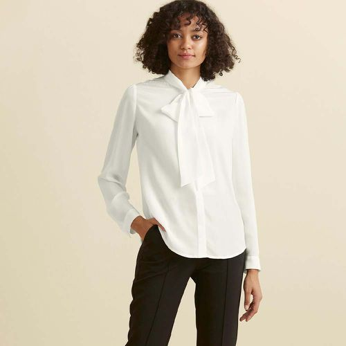 Classic Bow Tie Silk Blouse ($115)