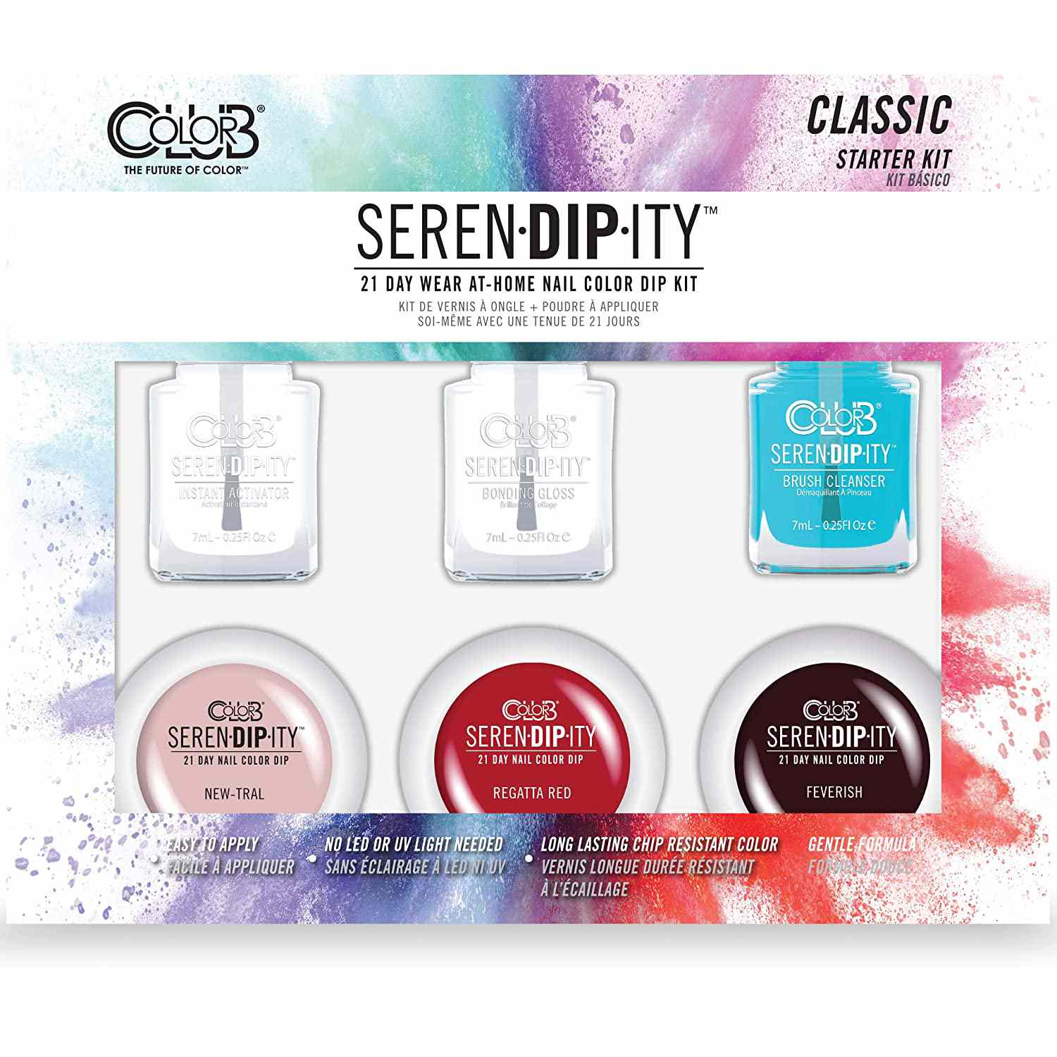 Color Club Serendipity 21 Day Wear At Home Nail Color Dip Kit