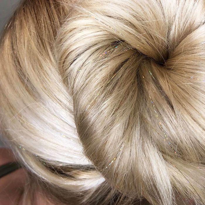 hair glitter ideas - hair tinsel