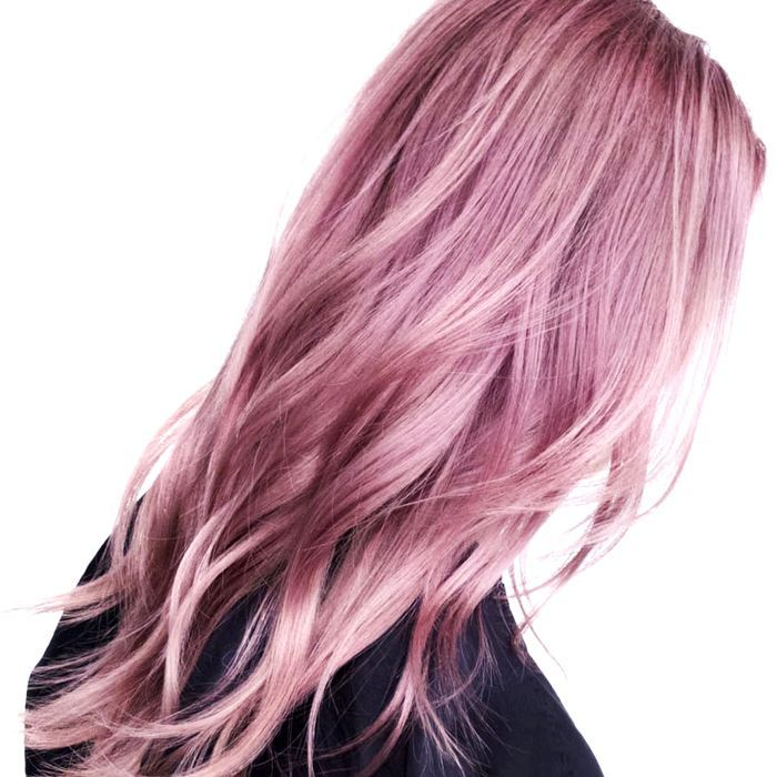 Woman with dusty rose hair