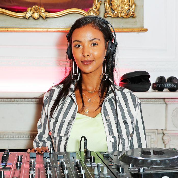 Maya Jama skincare: Maya Jama DJ'ing