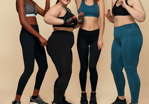 Group of women in workout clothing.