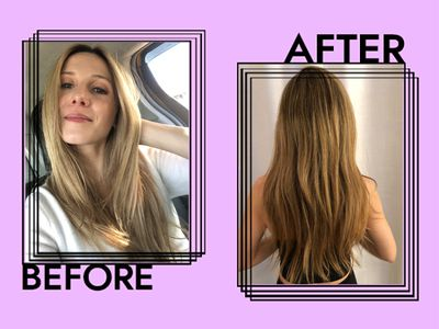Laura Before after