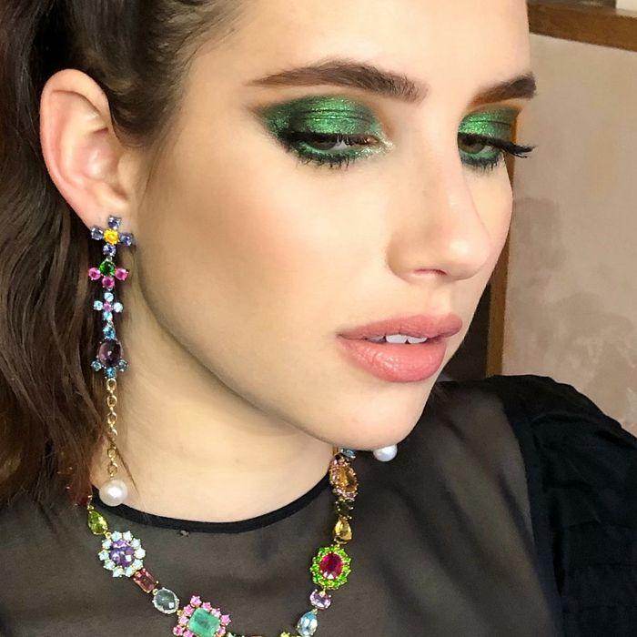 Emma Roberts, makeup by Lisa Eldridge
