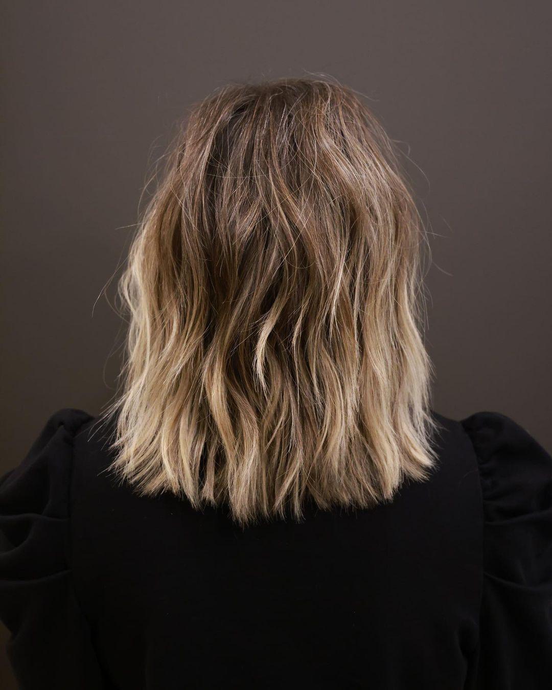 Short blonde ombre