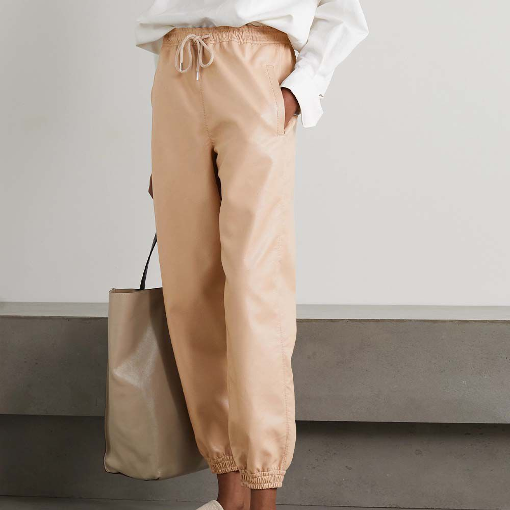 Kira Vegetarian Leather Track Pants