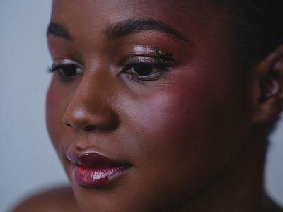 closeup of glitter core makeup