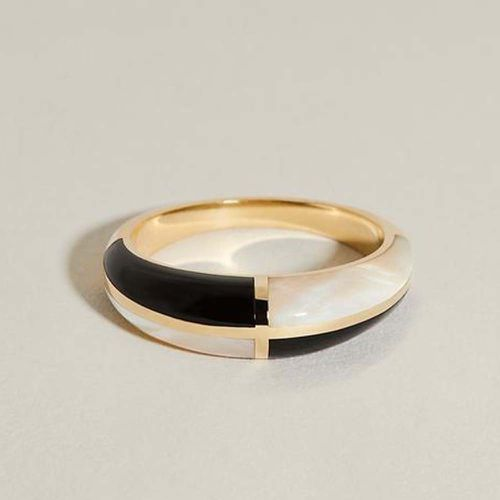 Form Inlay Ring I With Onyx & Mother of Pearl ($1,280)