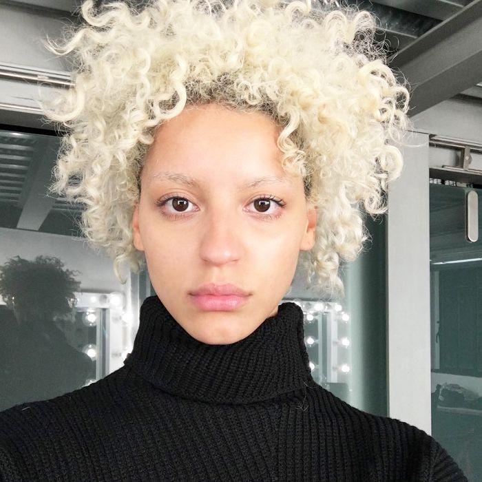 Blonde Kinky Curly Hair Tips By Model Nejilka