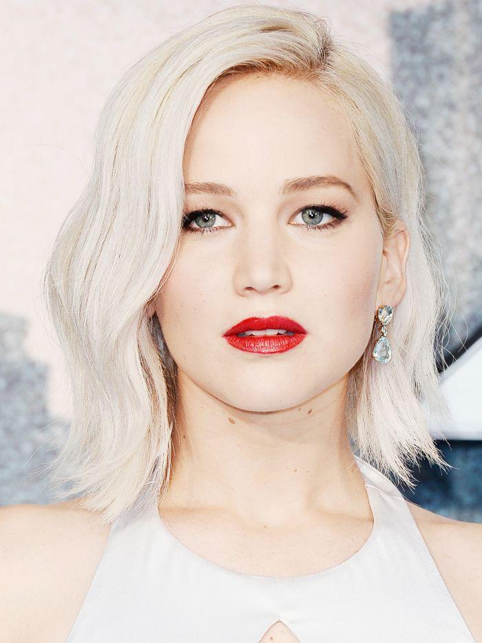 long bob: Jennifer Lawrence peroxide blonde bob