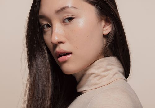 korean woman with dewy skin
