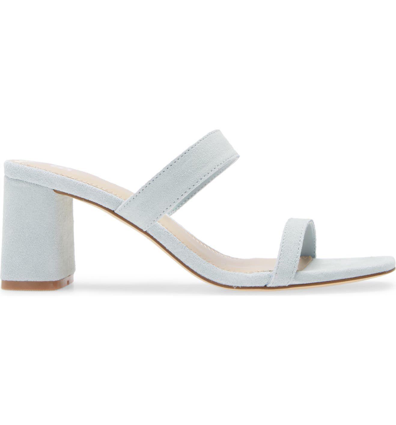 BP. Emmie Block Heel Slide Sandals