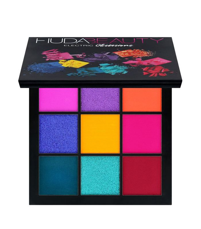 best bright eye shadow: Huda Beauty Electric Obsessions Palette
