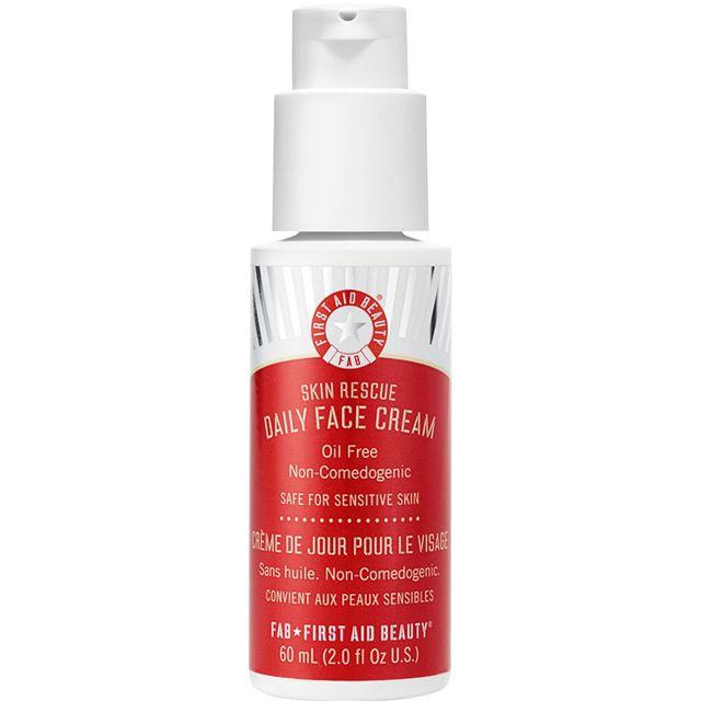 Skin rescue daily face cream in a pump bottle