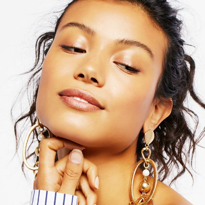 mesotherapy: woman with glowing skin