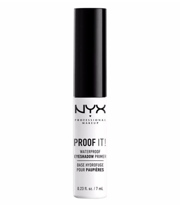 Best drugstore eye primer: NYX Proof It! Waterproof Eyeshadow Primer