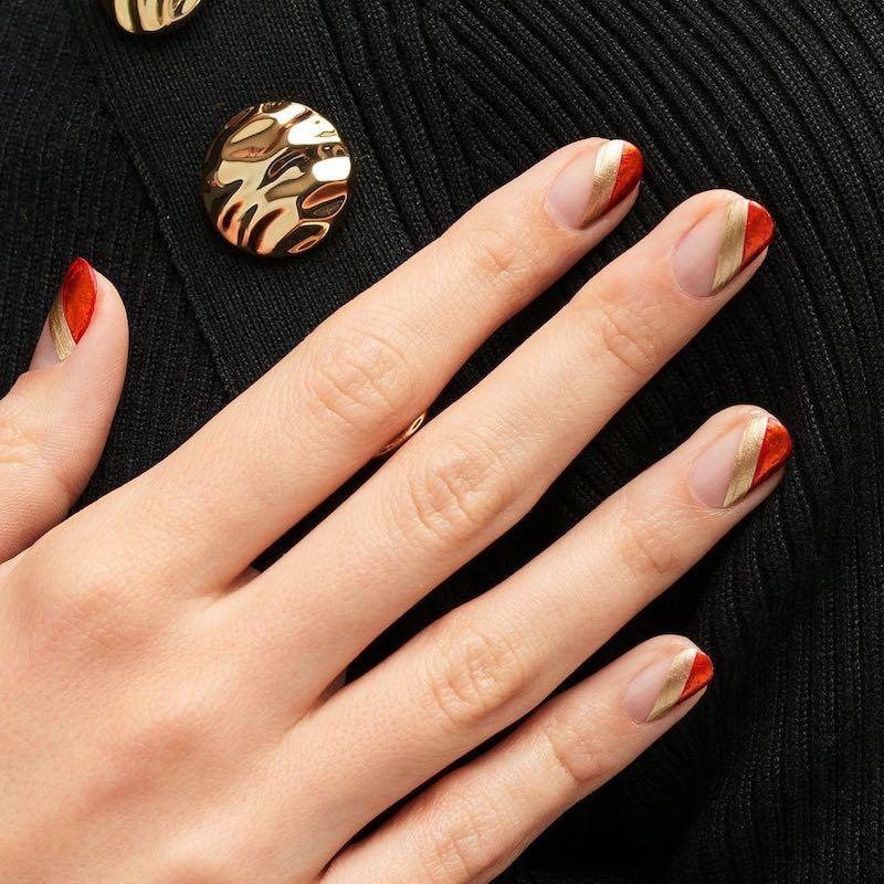 Simple Nail Designs Superhero Stripes