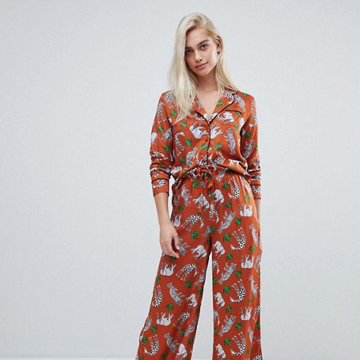 ASOS Safari Animal Pyjama Shirt and Trouser Set