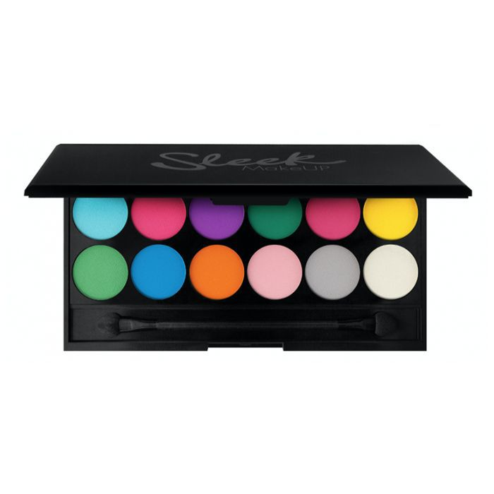 how to wear yellow eyeshadow: Sleek MakeUP i-Divne Ultra Mattes V1 Brights Palette