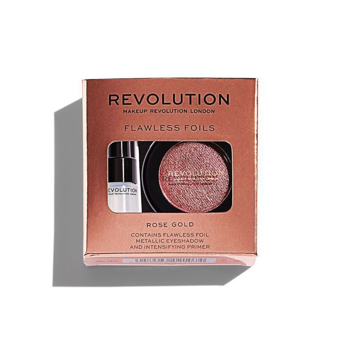 best rose gold eye shadow: Revolution Flawless Foils in Rose Gold
