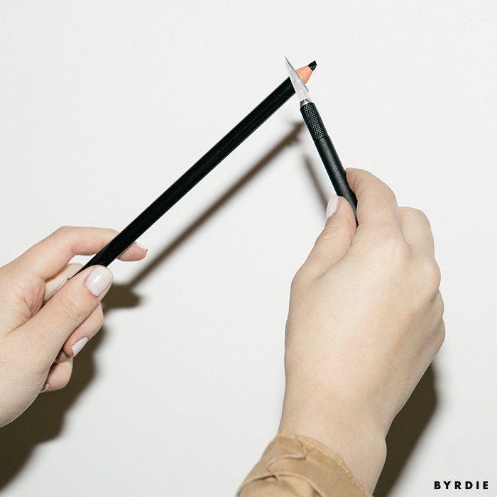 sharpening eyebrow filler pencil